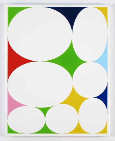 Cary Smith, Ovals #19 (With Seven Colors), 2015