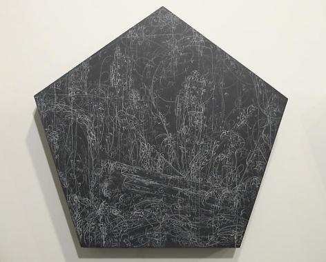 Kysa Johnson, blow up 194 - subatomic decay patterns after Piranesi's Triumphal Arch (2013)