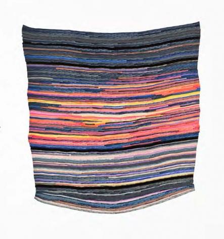 Carly Glovinski, Fire Belly Sunset Rag Rug, 2017