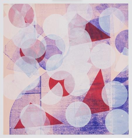 Austin Thomas, Pink with White Circles (Left Panel), 2020