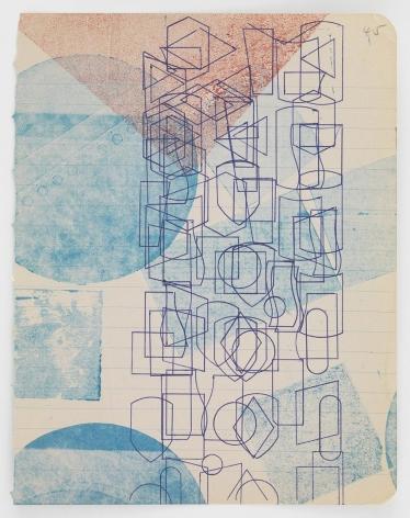 Austin Thomas, Pen Stenciled Ghost-printed, 2016