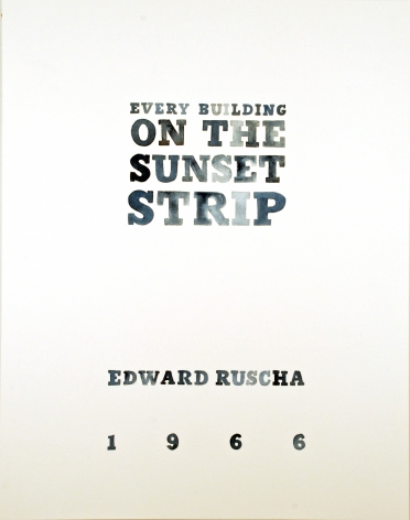 Amy Park, Ed Ruscha's Every Building on the Sunset Strip, title page, 2016