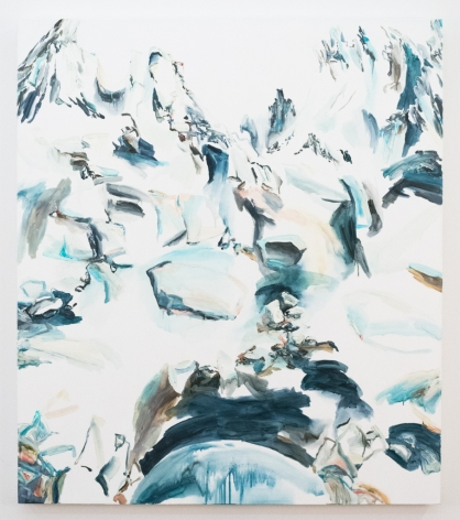 Elisa Johns  Bear Lakes Basin, 2017  Oil on canvas  64h x 56w in 162.56h x 142.24w cm
