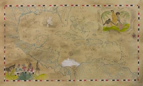 Map of The West Indies, Nueva Espana (New Spain), Nueva Granada (New Granada), And The Northern Territories.