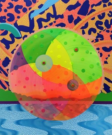Eric Hibit, Beach Ball #2, 2020