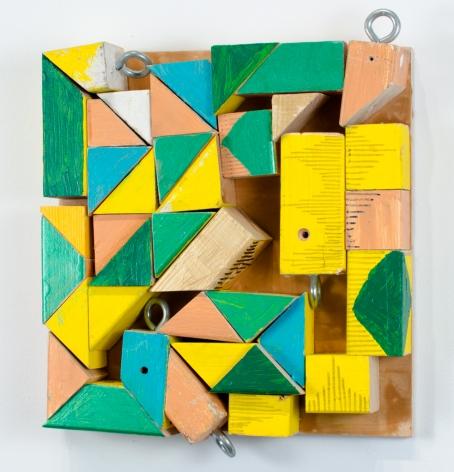 Cordy Ryman, Yellow Clacker Caps, 2014