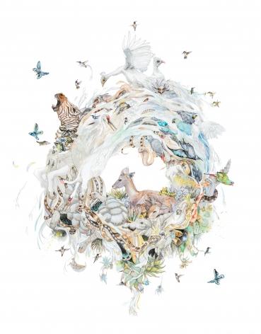 Laura Ball, Pegasus Mandala (Quagga), 2016