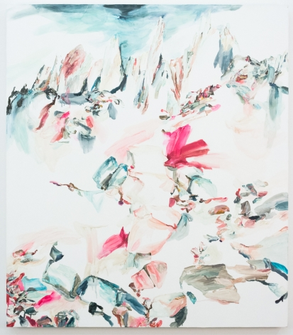 Elisa Johns  Feather Peaks, 2018  Oil on canvas  64h x 56w in 162.56h x 142.24w cm