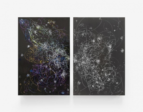 Kysa Johnson, blow up 286 - the long goodbye - subatomic decay patterns and Centaurus A, 2016