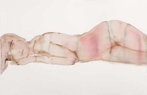 KimMcCarty, Brown/Pink Magenta Reclining - Small, 2017