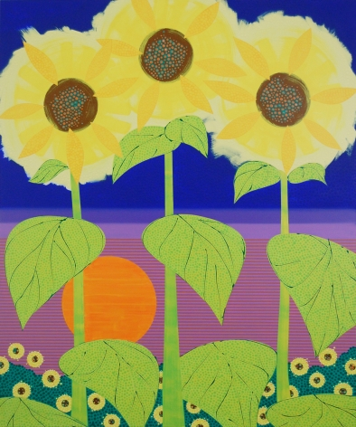 Eric Hibit, Sunflowers at Sunset, 2017