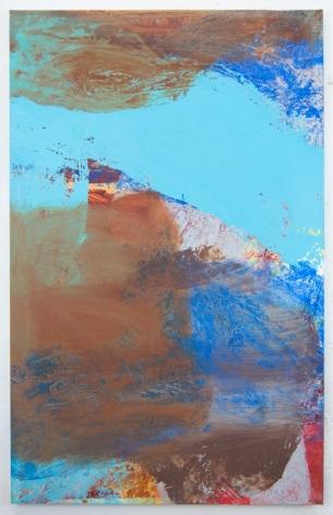 Andrew Schwartz, Bedsheet Painting: Sweep, 2017
