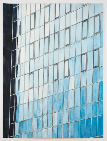 Amy Park, Grey Grid and Blue Windows, 2018