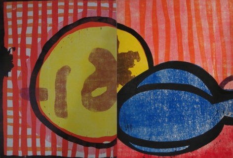 Mildred Beltre, Chance Woodcut (diptych), 2006