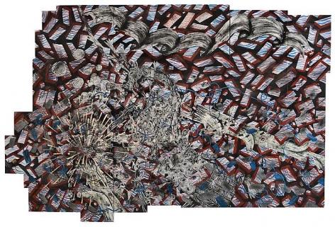 Andrew Schoultz, Exploding Wall  (2010-2011)