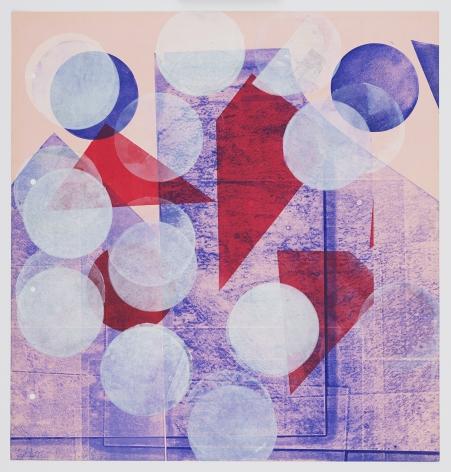 Austin Thomas, Pink with White Circles (Right Panel), 2020
