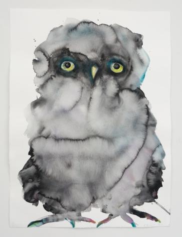 Kim McCarty, Untitled (Black Owl), 2021
