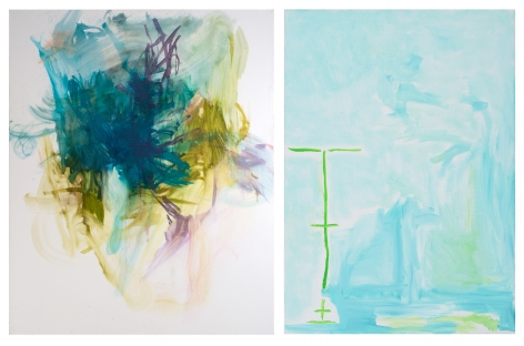 Left: Elizabeth Gilfilen, Pitch, 2014
