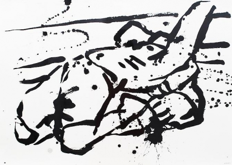Arch (2012) Ink on paper 18h x 24w in
