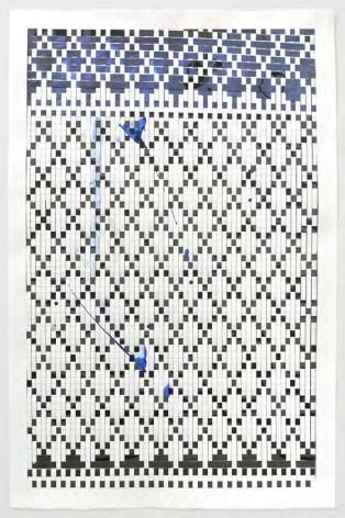 Carly Glovinski, Spilled Milk (blue), 2017