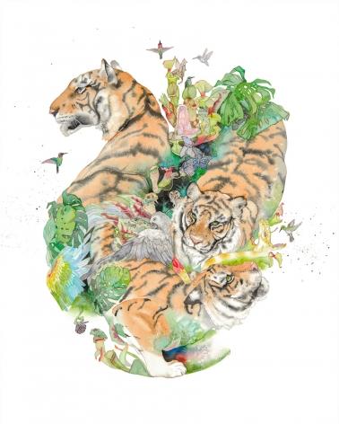 Laura Ball, Tiger Mandala #2, 2017