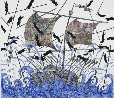 Andrew Schoultz, Black Flag Storm (2011)