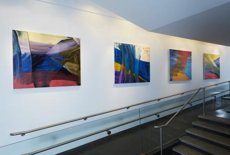 Andrea Belag, 2018, Installation in residential lobby