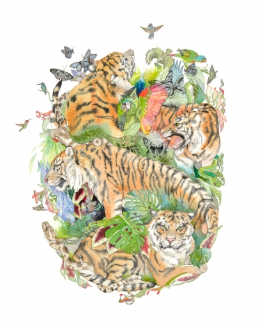 Laura Ball, Tiger Mandala #1, 2017