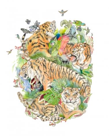 Laura Ball, Tiger Mandala #1, 2017