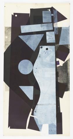 Austin Thomas, White Patterns Purple Ground and Black, 2020