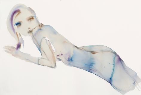Kim McCarty, Blue Reclining - Small, 2017