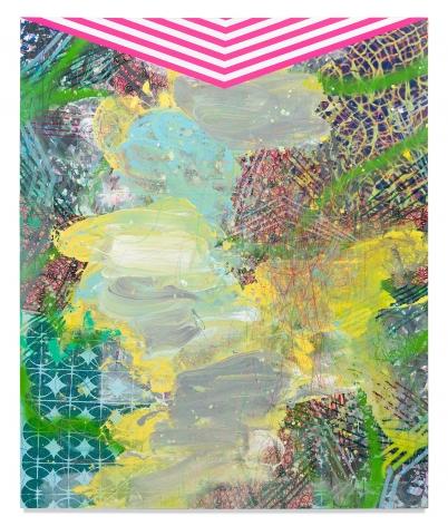 Huey, 2020, Mixed media on wood panel, 72 x 59 3/4 inches, 182.9 x 151.8 cm