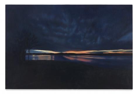 APRIL GORNIK, Blue Horizon, 2020, Oil on canvas, 24 x 36 inches, 61 x 91.4 cm, (MMG#32157)