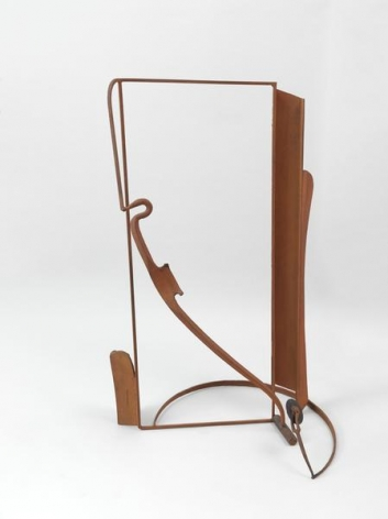 """Anthony Caro, Table Piece """"Catalan Spur"""", 1987-1988, Steel, bronze, wood, rusted, & fixed, 49.02 x 31.5 x 25.98 inches, 124.5 x 80 x 66 cm, AMY#28386"""