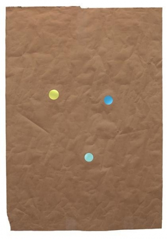Juggler, 2014, Kraft paper and dichroic glass, 46 x 32 inches, 116.8 x 81.3 cm, A/Y#21648