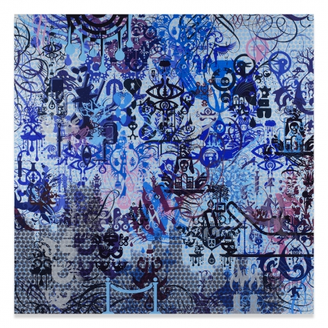 Ryan McGinness, A Willing Victim, 2015, Acrylic on canvas, 72 x 72 inches, 182.9 x 182.9 cm, MMG#31351