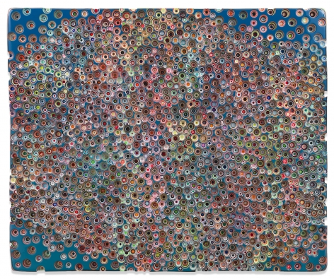 Markus Linnenbrink, WEWEREALWAYSUNKNOWNWATERS, 2019,Epoxy resin and pigments on wood,60 x 72 inches,152.4 x 182.9 cm,MMG#31799