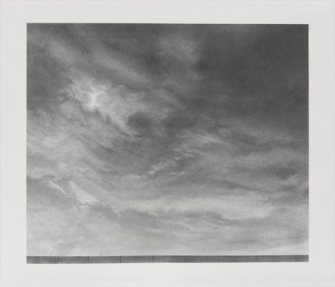 Clouds #1, 2013, Graphite on paper, 15 x 17 1/2 inches, 38.1 x 44.5 cm, A/Y#21666