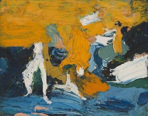 "George McNeil, ""Landscape Motif,"" 1969, Oil on panel, 16 x 20 inches, 40.6 x 50.8 cm, A/Y#17728"