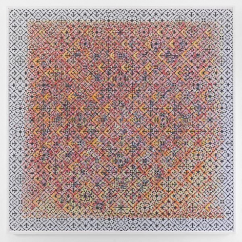 Crossword, 2015, Watercolor on paper mounted on archival Tycore, 75 1/2 x 76 1/4 inches, 191.8 x 193.7 cm, AMY#27951