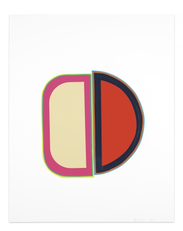 Beverly Fishman, Untitled, 2016, Vinyl and paper collage on smooth acid free Bristol paper