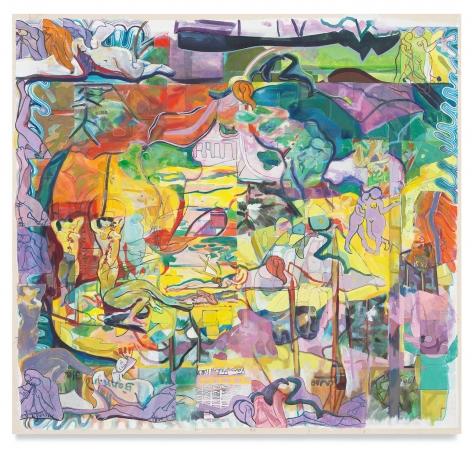 joysdivision, 2021, Acrylic on canvas, 30 3/4 x 32 5/8 inches, 78.1 x 82.9 cm, MMG#33054