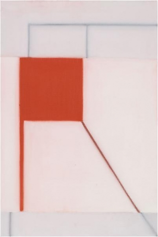 """625 (Red Flag),"" 2012, Oil on linen, 30 x 20 inches, 76.2 x 50.8 cm, A/Y#20577"
