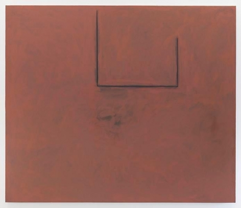Robert Motherwell, Premonition Open with Flesh over Grey, 1974, Acrylic, charcoal, and graphite on canvas, 72 x 84 inches, 182.9 x 213.4 cm, AMY#27803