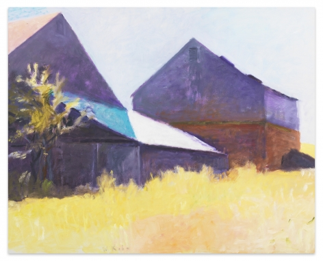 Two Barns (First Version), 1999, Oil on canvas, 40 x 50 inches, 101.6 x 127 cm,MMG#32502