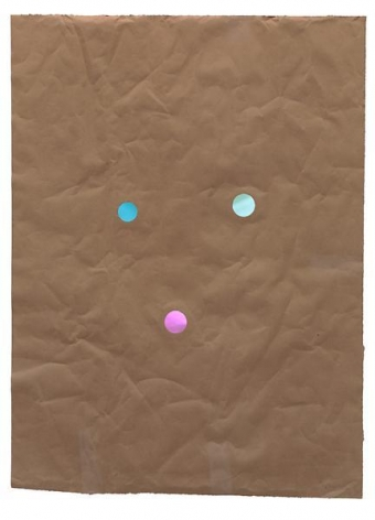 Juggler, 2014, Kraft paper and dichroic glass, 44 x 32 inches, 111.8 x 81.3 cm, A/Y#21647