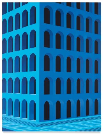 City Square at 4 am (Palazzo della Civiltà Italiana, Large Version), 2020,Acrylic on dibond,61 1/2 x 47 1/4 inches,156 x 120 cm,MMG#32186