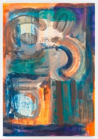 Untitled, 2016, Mixed media on paper mounted to aluminum, 71 x 49 inches, 180.3 x 124.4 cm, MMG#28309