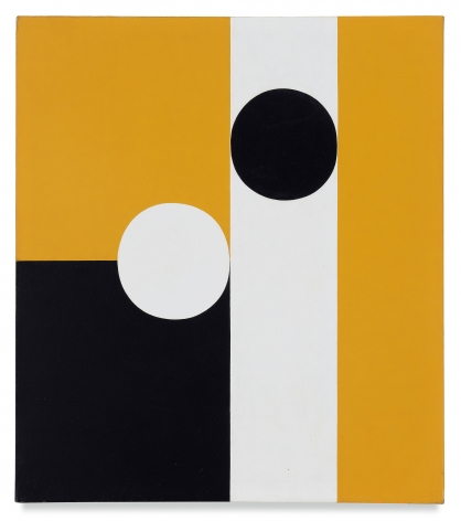 Frederick Hammersley, Half of Half #6, 1960