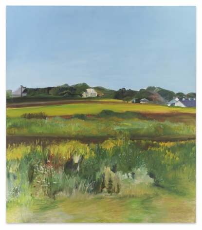 Jane Freilicher, Late Summer, 1968, Oil on canvas, 80 x 70 inches, 203.2 x 177.8 cm, MMG#32367